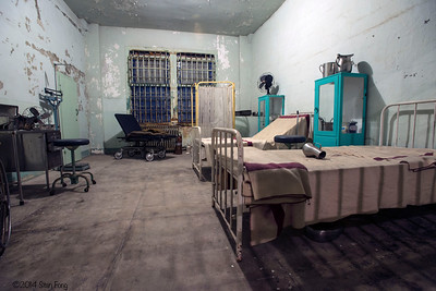 "Prison hospital on the west side of the cell block. Robert Stroud (""The Birdman"") spent 11 of his 17 years on Alcatraz. The other 6 years was spent in Cellblock D in solitary confinement."