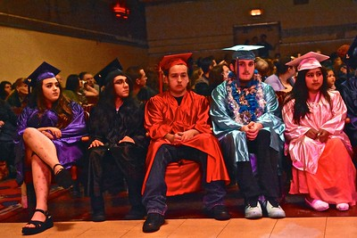 Alder Grove Charter School students wait for ceremony to start. José Quezada—For Times-Standard