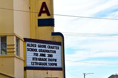 The historic Eureka Theatre was the venue for the Alder Grove Charter School graduation ceremony. José Quezada—For Times-Standard