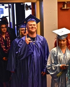 It was all cool before the Alder Grove Charter School ceremony. José Quezada—For Times-Standard
