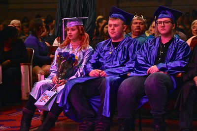 Waiting for ceremony to begin. José Quezada—For Times-Standard