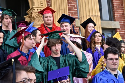 All mortar board hats were in place by graduation. José Quezada—For Times-Standard