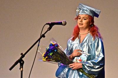 Paige Goodwin addresses her fellow graduates.  José Quezada—For Times-Standard