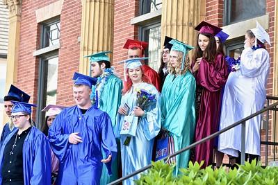 Students wait before graduating. José Quezada—For Times-Standard