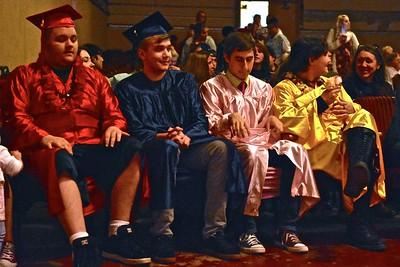Rainbow graduation. José Quezada—For Times-Standard
