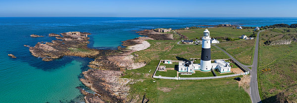 Alderney lighthouse panorama