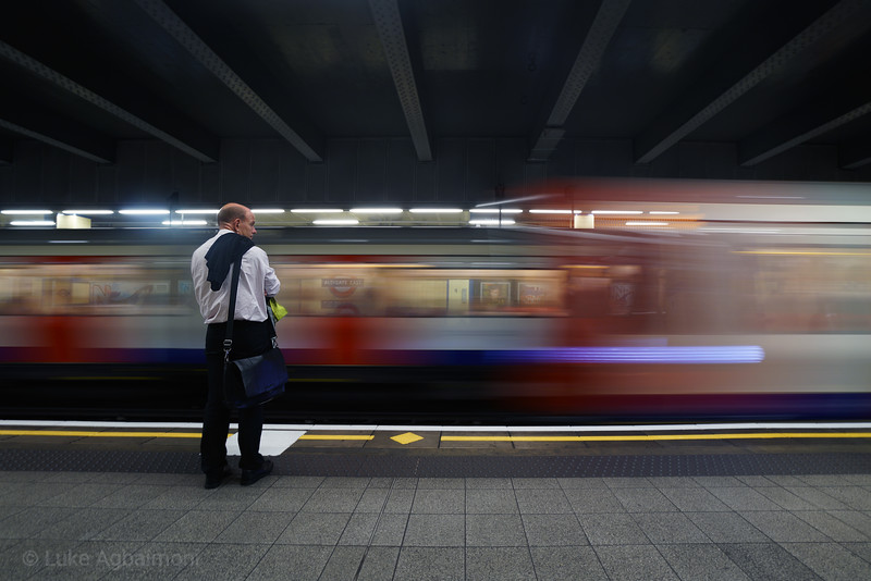 Waiting for trains again, Aldgate East