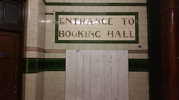 Original Booking Hall tiling..wonderful eye to detail,something modern day buildings seem to lack.