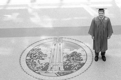 Alec's Graduate Photos, April 14, 2018, B&W