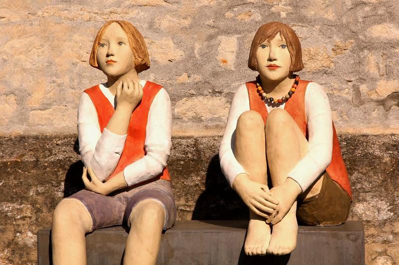 Esculturas no Centro HIstórico de Weikersheim