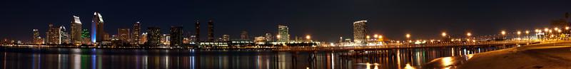 Panorama of San Diego Skyline consisting of 6 shots.