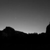 Yosemite at Night B&W