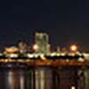 Panorama of San Diego Skyline consisting of 6 shots.