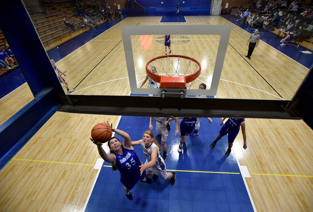 . LONGMONT, CO - JANUARY 08, 2019: Alexander Dawson\'s Ruby Walker snags a rebound during a game against the Longmont Christian on Tuesday, Jan. 08, in Longmont. More photos: BoCoPreps.com (Photo by Jeremy Papasso/Staff Photographer)
