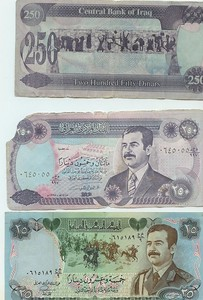 Saddam's currency -which is now worthless...