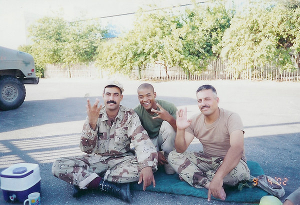 Brandon Kinard in the U.S. v Iraq War 2002