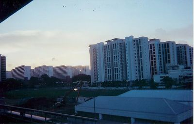 Sunset looking from trainstation in Singapore.