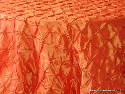 """Rosette Taffeta - Tangerine Available Linens: 90"""" X 90"""""""
