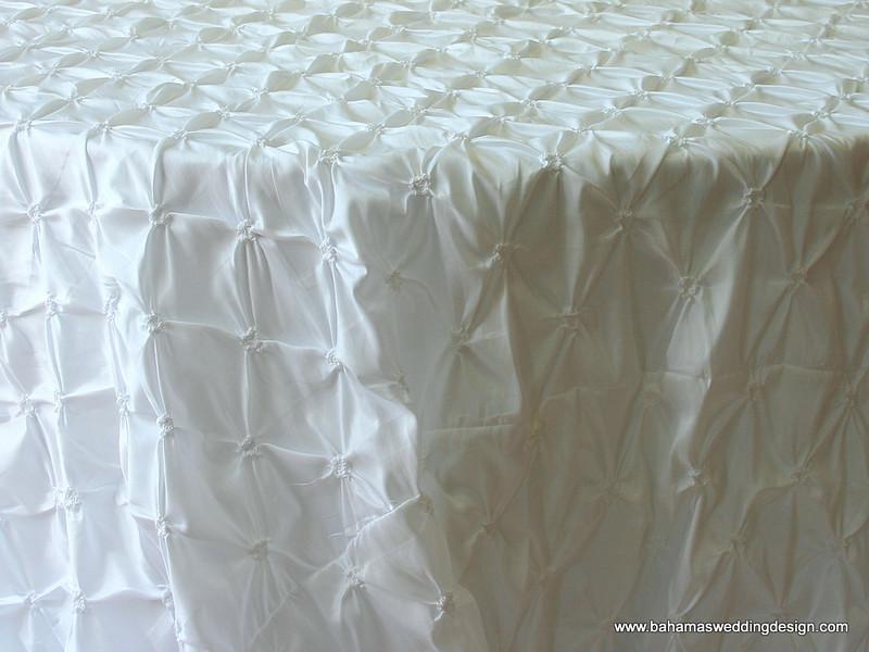 """Rosette Taffeta - White Available Linens: 90"""" X 90"""""""