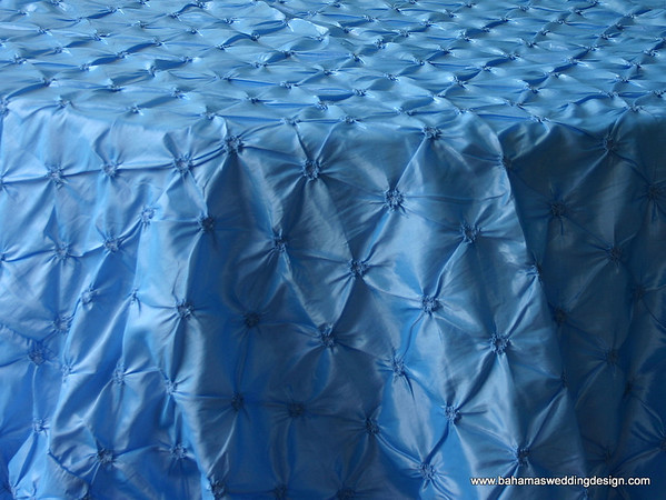 "Rosette Taffeta - Brilliant Blue Available Linens: 90"" X 90"""