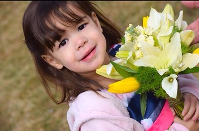 Pretty Girl Pretty Flowers - 2