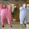 Pink pig/white unicorn