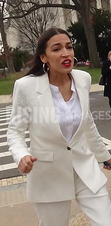 Alexandria Ocasio-Cortez On Capitol Hill In Washington, DC