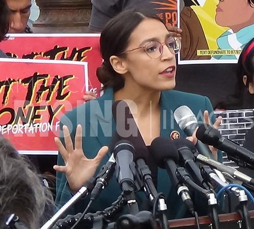 Alexandria Ocasio-Cortez At ICE Protest In Washington, DC