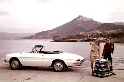 This is as close as I could find to the cream painted Alfa Romeo I owned in the late 60's
