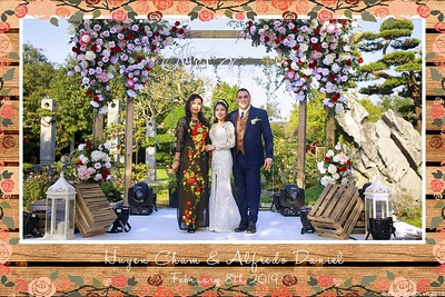 Alfredo & Cham Wedding instant print photobooth @ Softwater Restaurant Ha Noi - chụp hình in ảnh lấy ngay Tiệc cưới