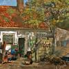F2053<br /> Pasteltekening van De Oude Hortus uit 1896, gemaakt door P. v.d. Bergh op bordkarton. Afm. 79 x 66 cm.<br /> Deze boerderij was de bakermat van het slagersgeslacht van Van der Meij.