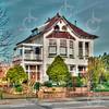 F4565<br /> Villa Nancy, Hoofdstraat 87 op de hoek van de Koetsiersweg, gebouwd in 1914, naar een ontwerp van de Leidse architect H.J. Jesse.