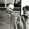 F2241<br /> Piet van Rijn en zijn vrouw Alie. Na overlijden van zijn ouders (moeder 1937 en vader 1943) kwam Henk van Rijn weer in Sassenheim wonen bij de broer van zijn vader, oom Piet en Tante Alie aan de Rusthofflaan 4.