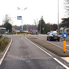 F3505<br /> Het kruispunt bij Sassenheim noord. Rechtsachter staat villa Hyacintha, in 1938 gebouwd door aannemer C. Kiebert voor de familie Van Reisen. Het werd later een gezinsvervangend tehuis (begeleid wonen). Foto: 2014