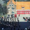 F2961<br /> Een muziekkorps op het terrein van de brandweer bij de Parklaan.