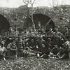 F3482<br /> Militairen (eerste wereldoorlog) in de ruïne van Teijlingen. Foto: ca 1914