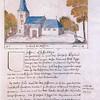 F3206<br /> Een tekening van de Dorpskerk anno 1728
