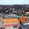 F2963<br /> Een overzicht over de brandweerkazerne en het kruispunt Parklaan - Van Pallandtlaan.
