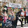 F2572<br /> Scoutinggroep Scojesa bij het clubhuis De Hoystakaan de Sportdreef te Sassenheim. Foto: 2004.