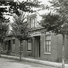 F0839 <br /> Collectie Oudshoorn 051: 4 burgerwoningen Bijdorpstraat, J.P. Oudshoorn 1908. Deze huizen staan aan het begin van de straat, aan de noordzijde. In het hoekhuis nummer 11 woonde Roel Roodenburg.  Links van nr. 11, op nummer 9, woonde M. Both sr. en later J. Hogewoning. Op nr. 7 woonde Demmenie.<br /> Foto: vóór 1921.