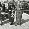 F1062 <br /> Opening van Rijksweg 4 (later A44) op 25 juni 1938. Uiterst rechts staat P. IJsselmuiden (op de achtergrond tussen het publiek).