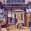 F4253<br /> <br /> Een afbeelding van een zeepziederij. De as werd bij de mensen opgehaald en verzamelt in de Asschuur. Daar werd het met een schuit naar Leiden vervoerd om er zeep van te maken.