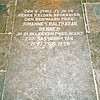 F4341<br /> De grafsteen van Johannes Balthazar Bennet, predikant in Sassenheim van 1751-1758. . Foto: 2002