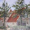 F3420<br /> Een schilderij van de Oude Hortus door ?