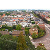 F3710<br /> De foto is genomen vanaf de kerktoren van de St. Pancratius. De parklaan gaat over in de Hoofdstraat. Rechts de ingang naar de Julianalaan met op de hoek villa Anna Margaretha. Foto: 2014