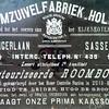 F3704<br /> Een advertentie van de stoomzuivelfabriek 'Holland' aan de Teijlingerlaan.