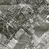 F3291<br /> Luchtfoto van Sassenheim in 1954. De Teijlingerlaan loop van rechtsonder en gaat bij de splitsing over in de Carolus Clusiuslaan. De ruïne is rechtsonder te zien. In het midden van de foto het park Rusthoff.