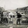 F3444<br /> Het repareren van de Oude Postbrug in de Hoofdstraat over de Zandsloot.