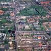 F0278 <br /> Een luchtfoto van het centrum van Sassenheim. Foto: jaren '80.