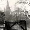 F4610<br /> Opname in park Rusthoff met op de achtergrond de St. Pancratiuskerk. Foto: 1975.